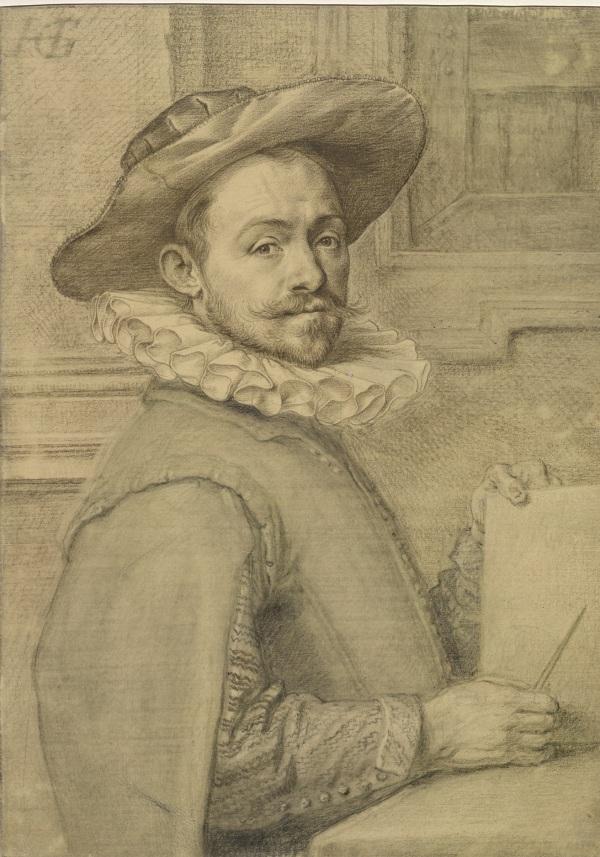 Self-portrait by Hendrik Goltzius