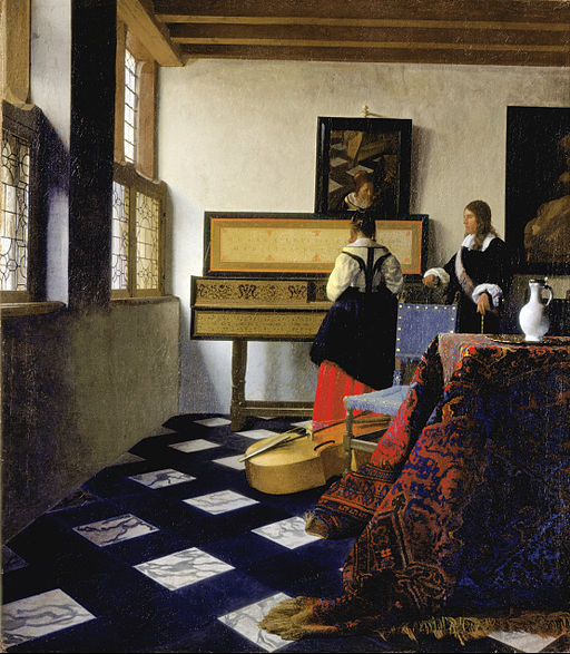 Lady at the Virginal with a Gentleman or 'The Music Lesson' (1662-5) by Johannes Vermeer | Royal Collection Trust/ © Her Majesty Queen Elizabeth II 2015