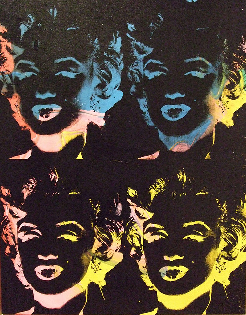 Four Multicolored Marilyns, Andy Warhol.